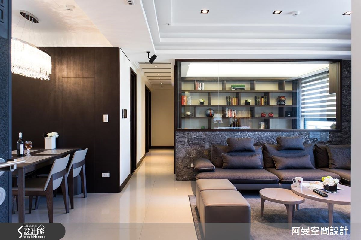 25坪預售屋_現代風客廳案例圖片_阿曼空間設計_阿曼_35之1