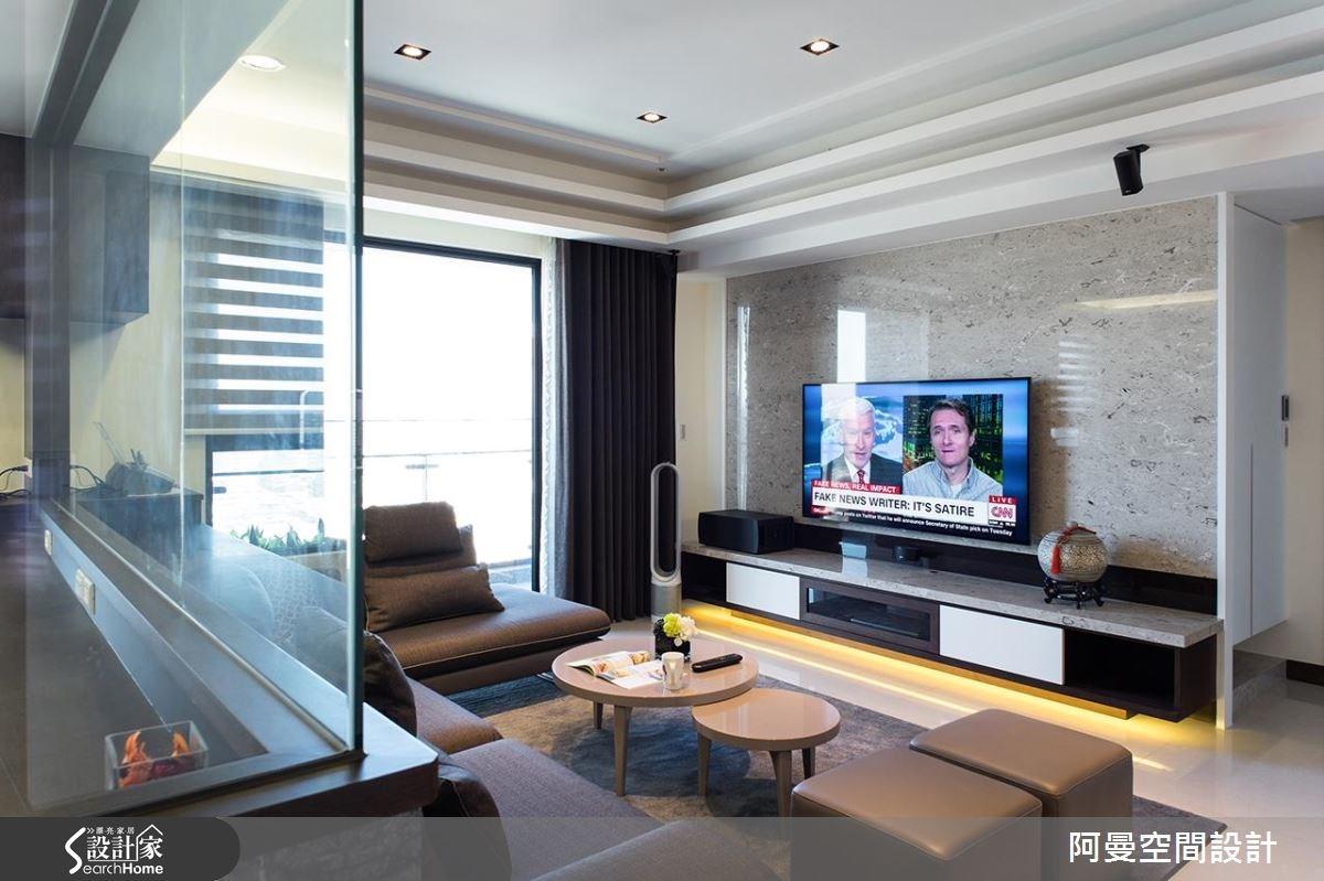 25坪預售屋_現代風客廳案例圖片_阿曼空間設計_阿曼_35之2