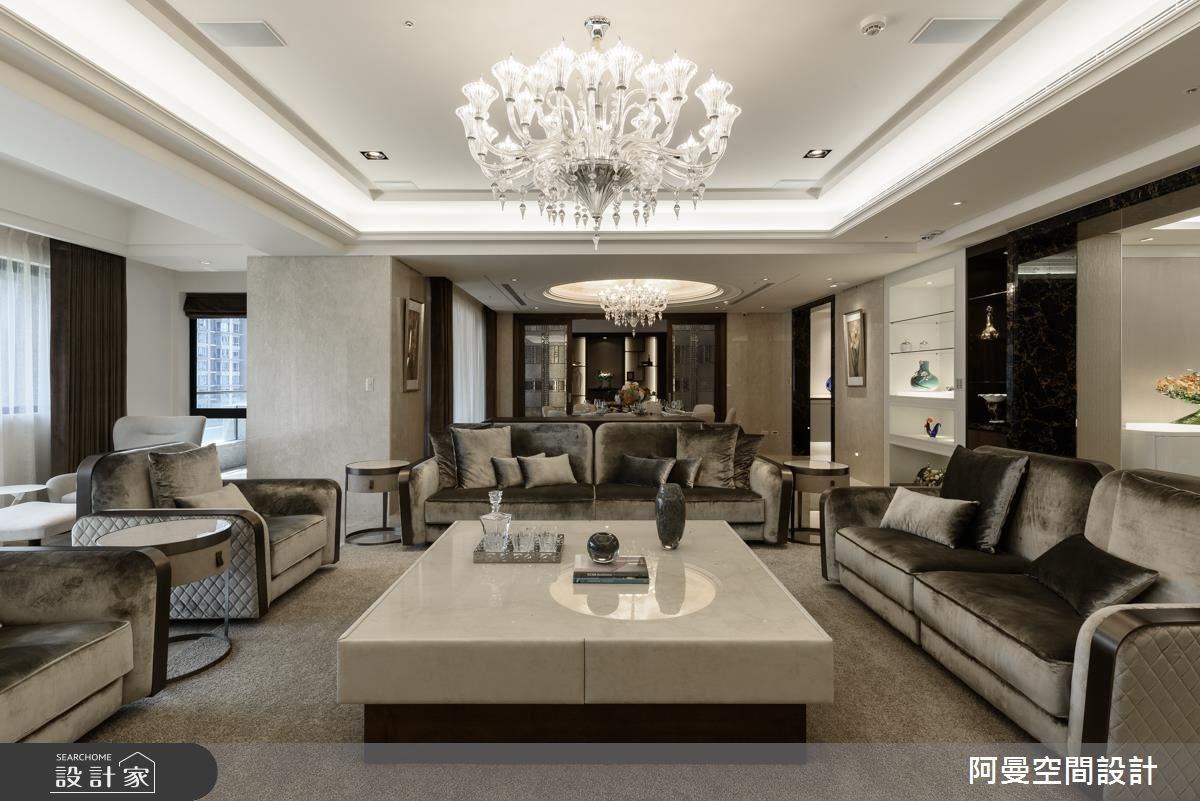 102坪新成屋(5年以下)_奢華風客廳案例圖片_阿曼空間設計_阿曼_37之5
