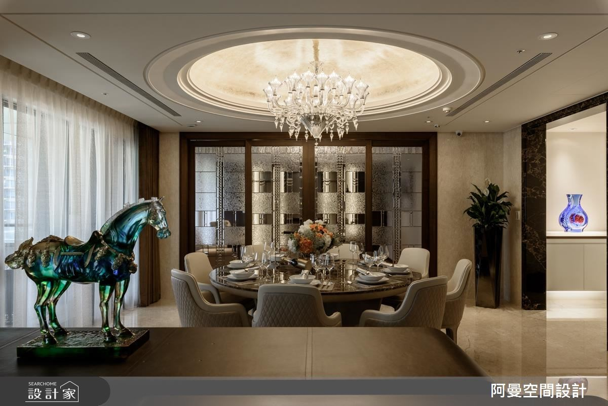 102坪新成屋(5年以下)_奢華風餐廳案例圖片_阿曼空間設計_阿曼_37之7