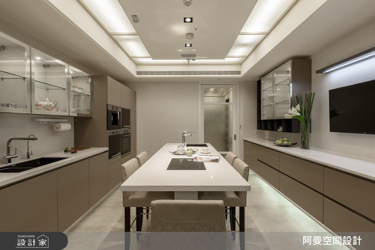 102坪新成屋(5年以下)_奢華風餐廳案例圖片_阿曼空間設計_阿曼_37之8