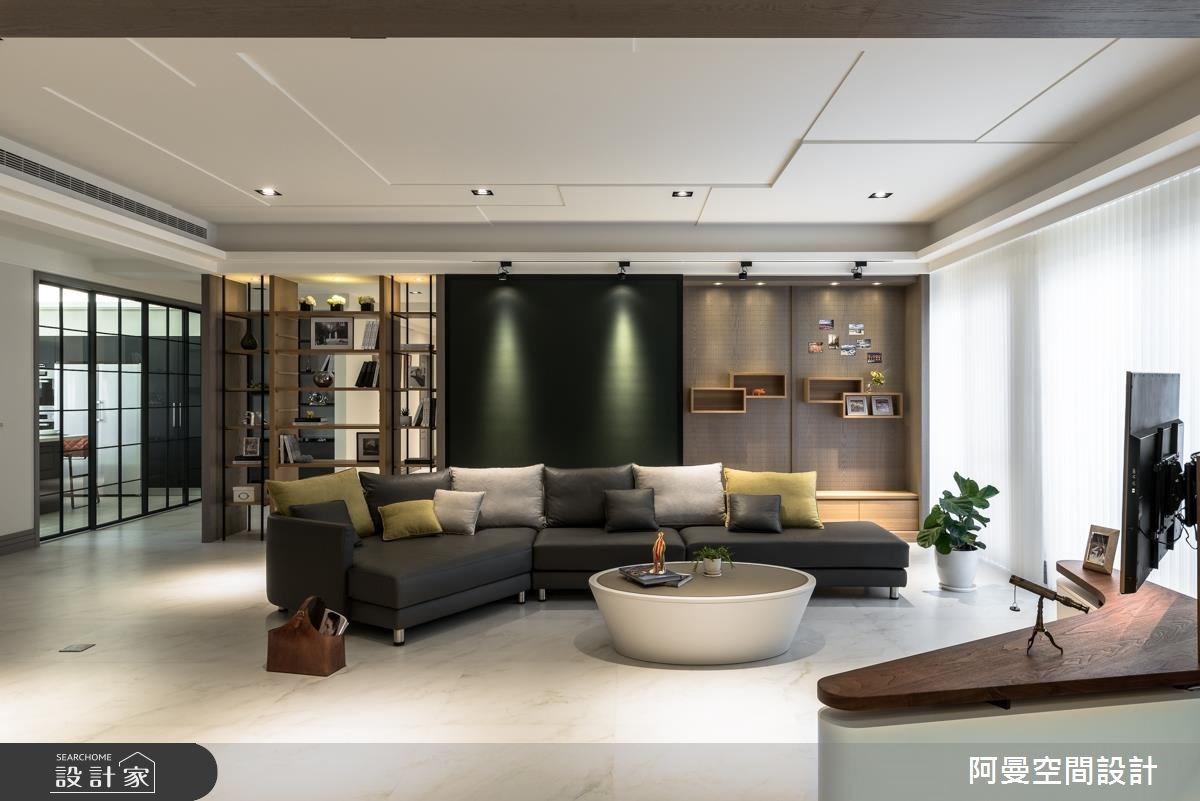 105坪新成屋(5年以下)_工業風客廳案例圖片_阿曼空間設計_阿曼_39之2