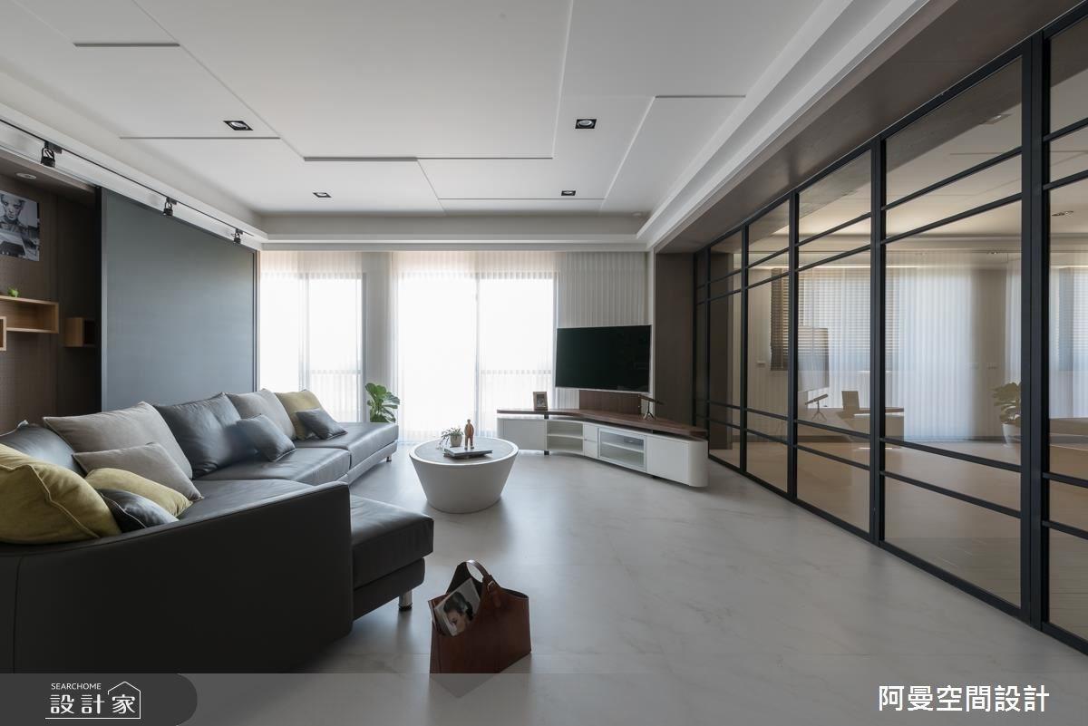 105坪新成屋(5年以下)_工業風客廳案例圖片_阿曼空間設計_阿曼_39之4