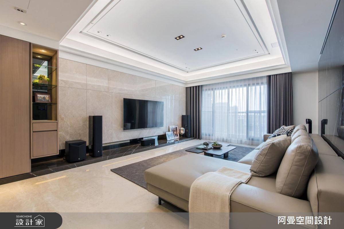 50坪新成屋(5年以下)_現代風客廳案例圖片_阿曼空間設計_阿曼_40之2