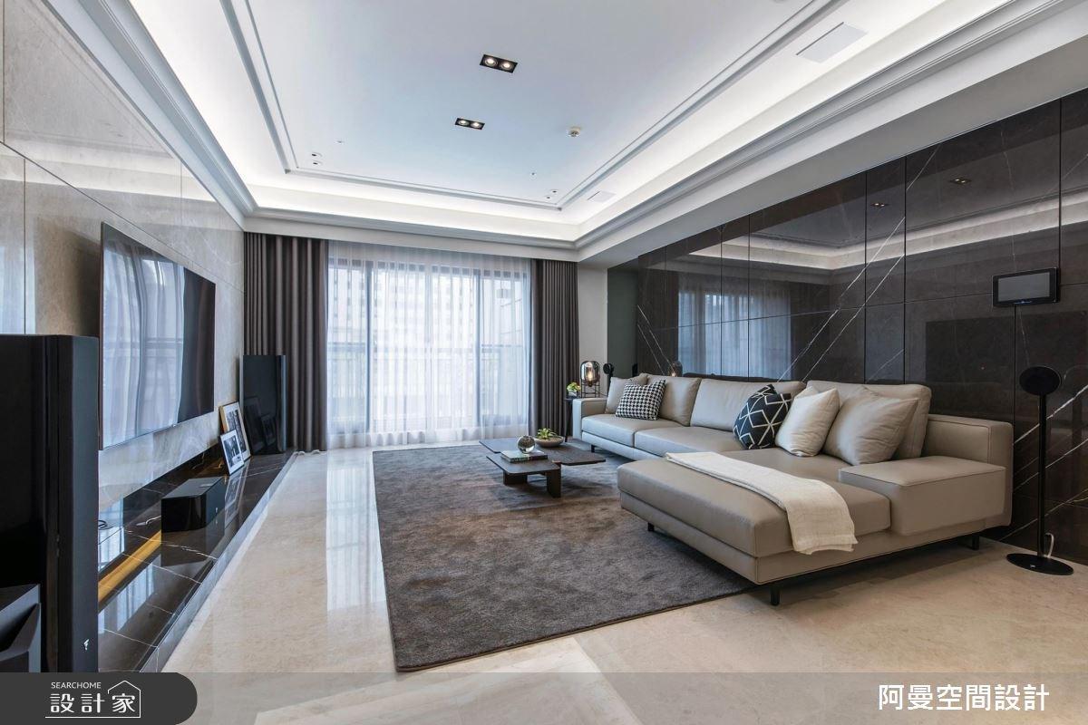 50坪新成屋(5年以下)_現代風客廳案例圖片_阿曼空間設計_阿曼_40之3