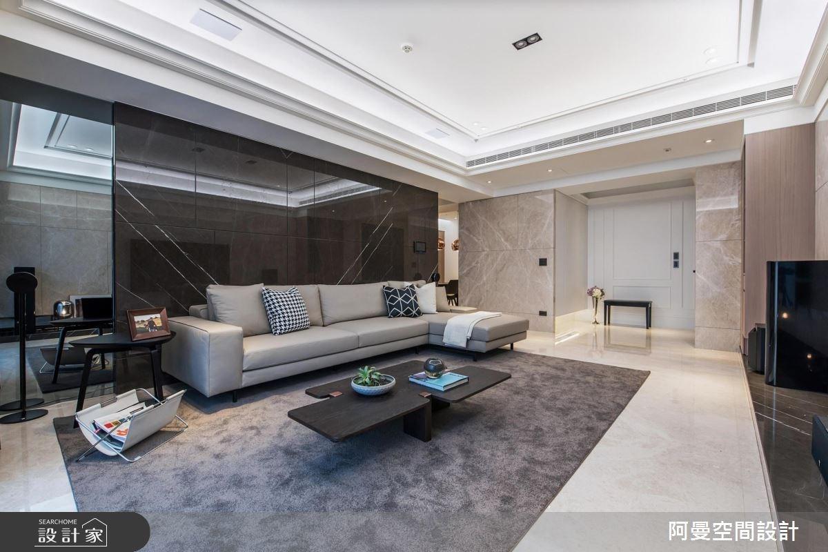 50坪新成屋(5年以下)_現代風客廳案例圖片_阿曼空間設計_阿曼_40之4