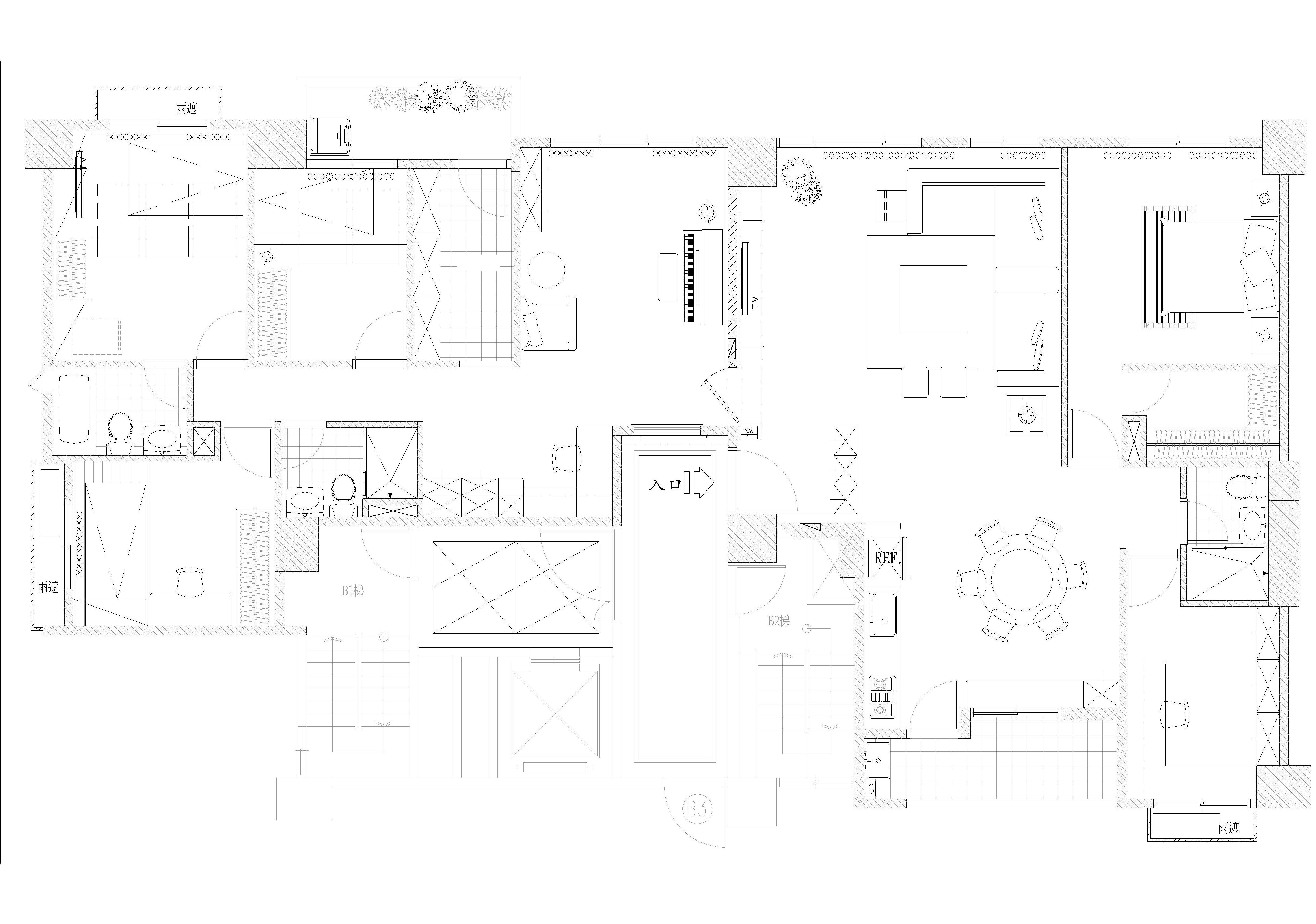 54坪新成屋(5年以下)_混搭風案例圖片_達圓室內空間設計_達圓_11之20