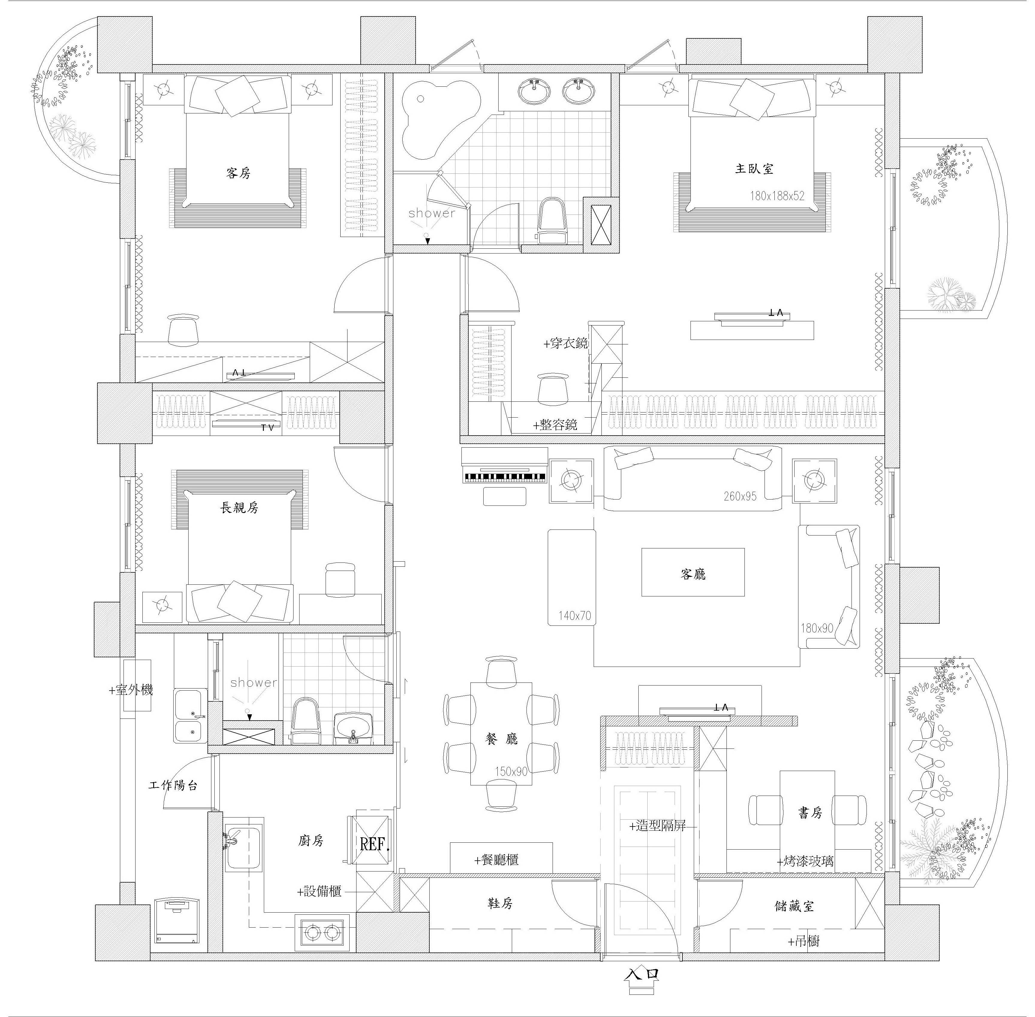 75坪新成屋(5年以下)_奢華風案例圖片_達圓室內空間設計_達圓_15之19