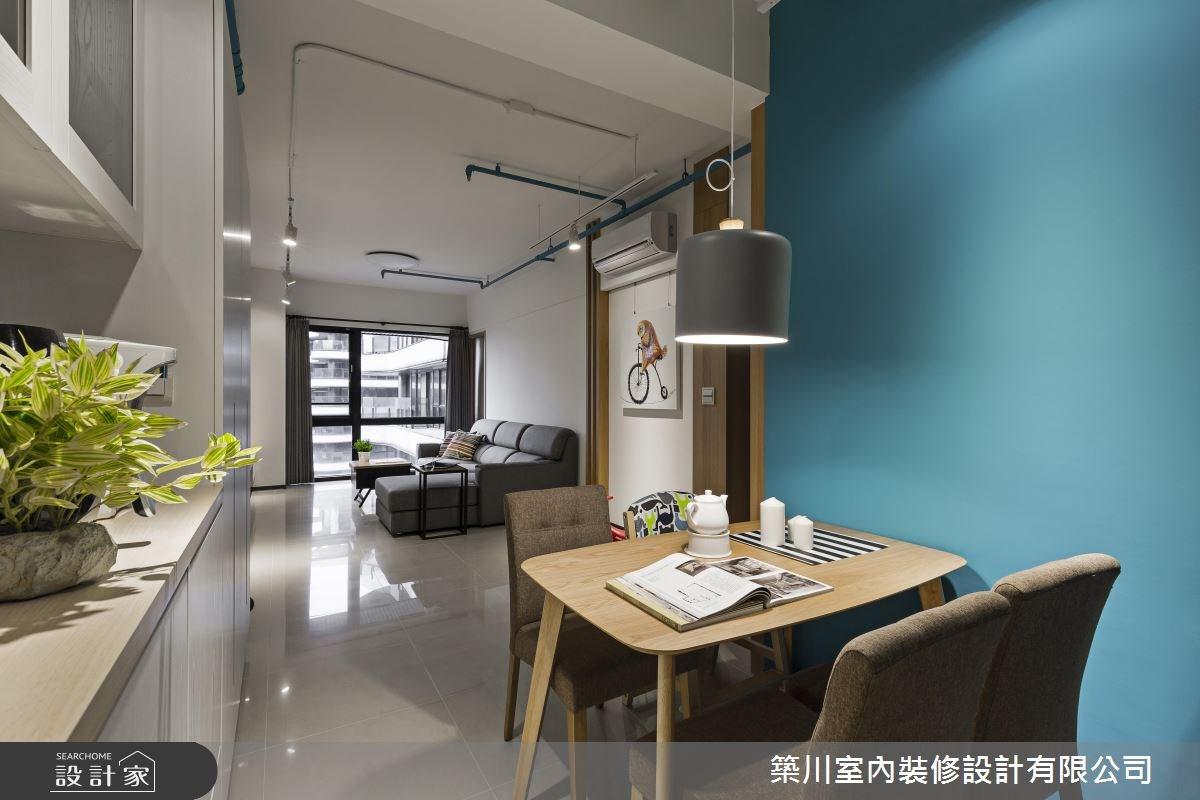 23坪新成屋(5年以下)_北歐風客廳餐廳案例圖片_築川設計_築川_02之12