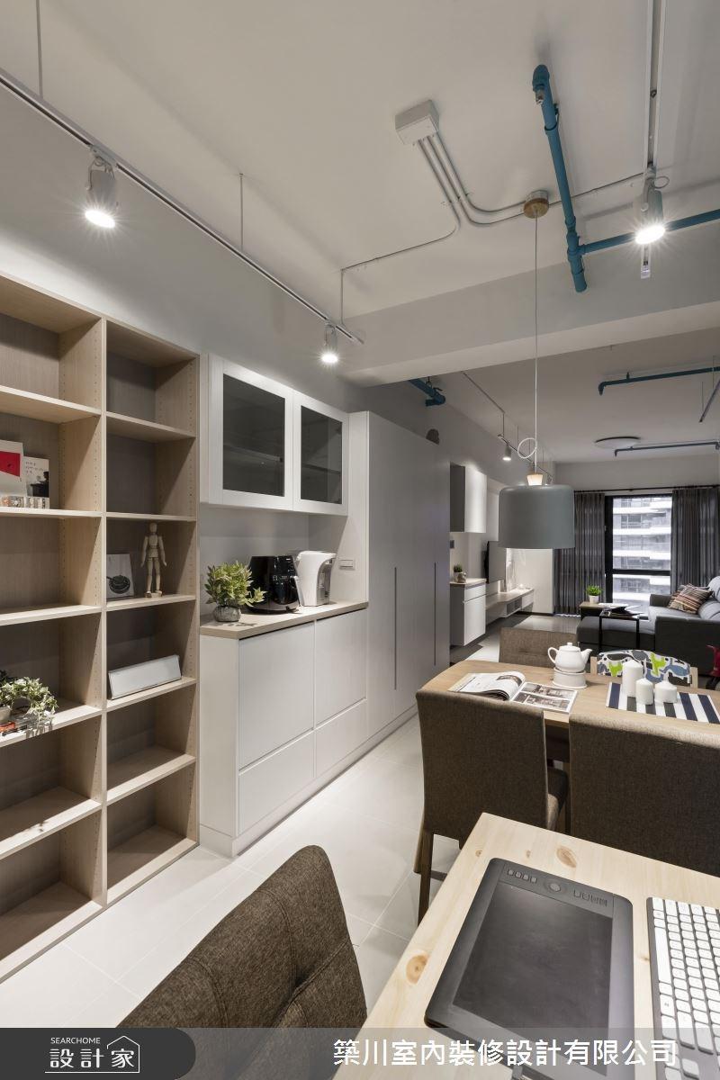 23坪新成屋(5年以下)_北歐風客廳餐廳案例圖片_築川設計_築川_02之13
