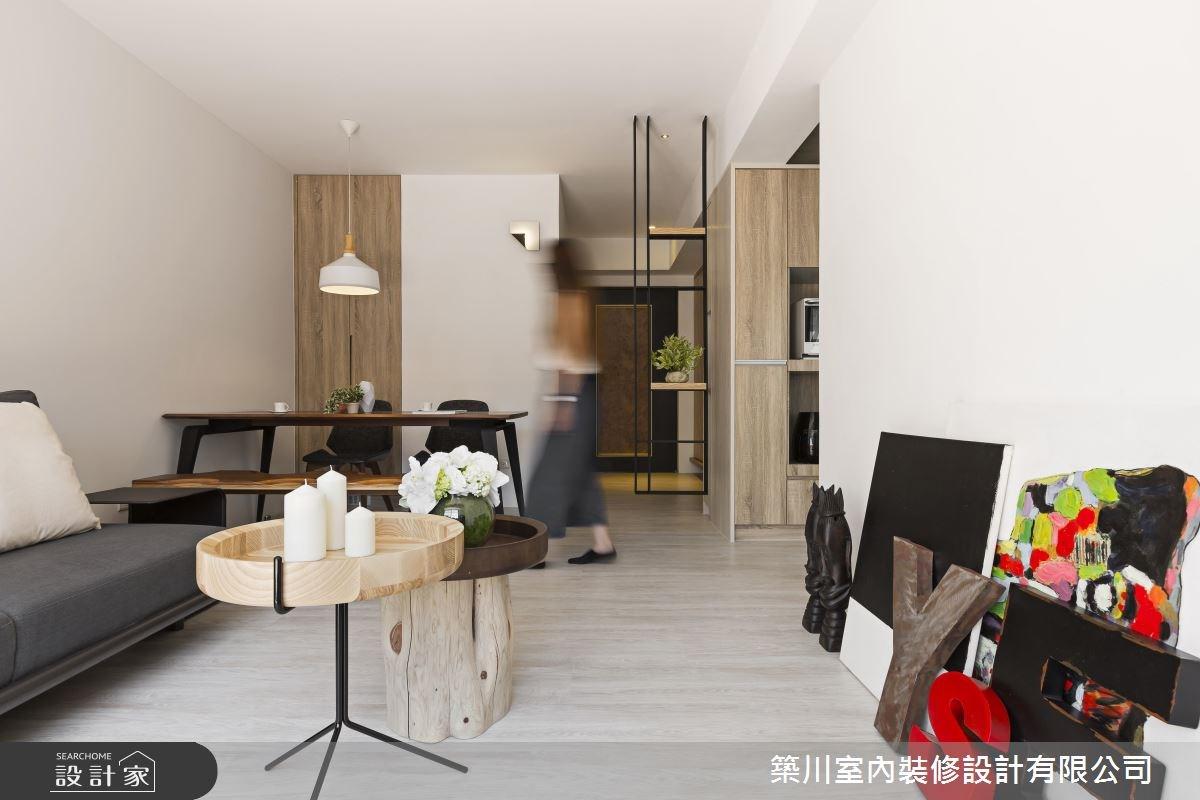 14坪老屋(16~30年)_現代風客廳餐廳案例圖片_築川設計_築川_03之3