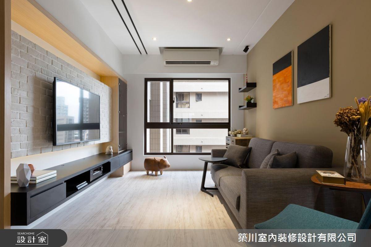 18坪新成屋(5年以下)_北歐風客廳案例圖片_築川設計_築川_04之4