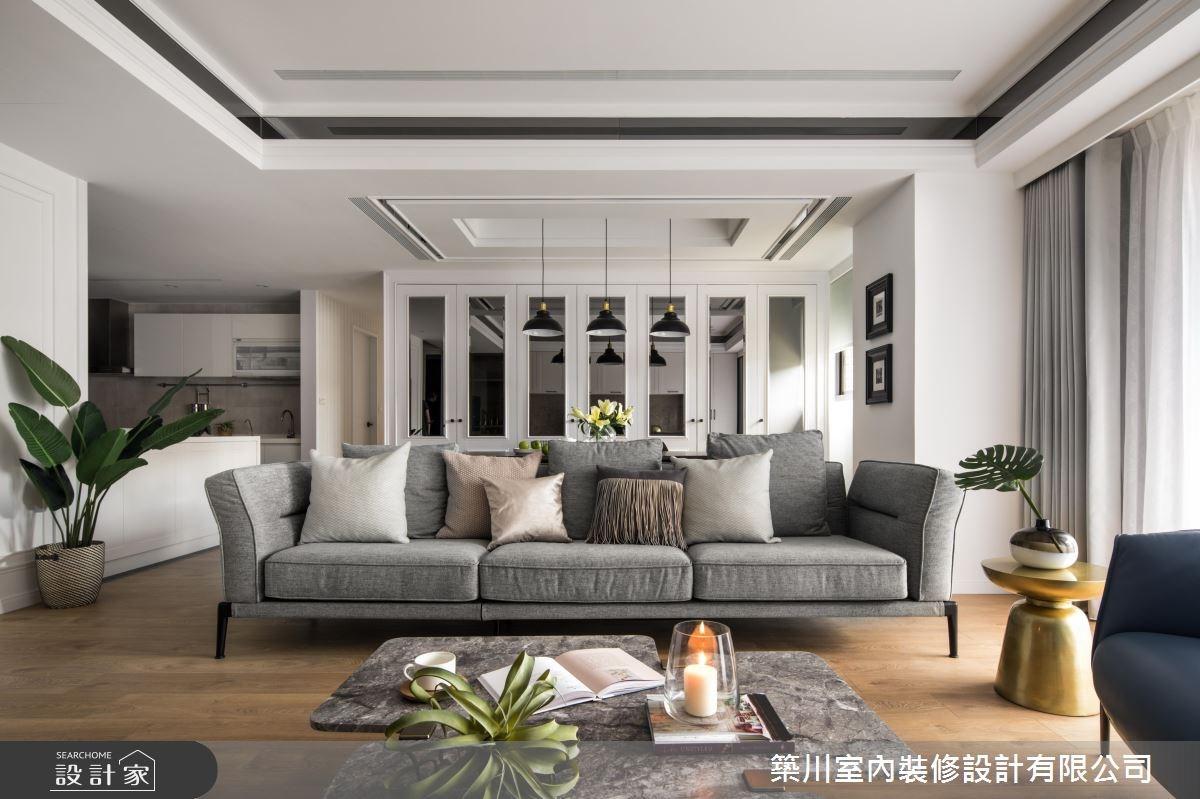 45坪新成屋(5年以下)_新古典客廳廚房案例圖片_築川設計_築川_08之5