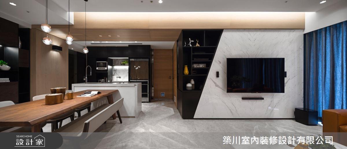 40坪新成屋(5年以下)_現代風客廳餐廳廚房案例圖片_築川設計_築川_09之5