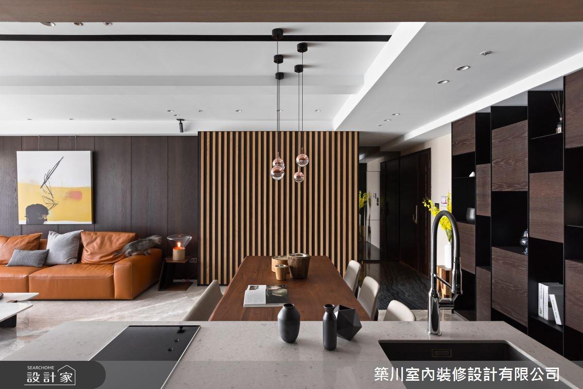 40坪新成屋(5年以下)_現代風玄關客廳餐廳廚房案例圖片_築川設計_築川_09之7