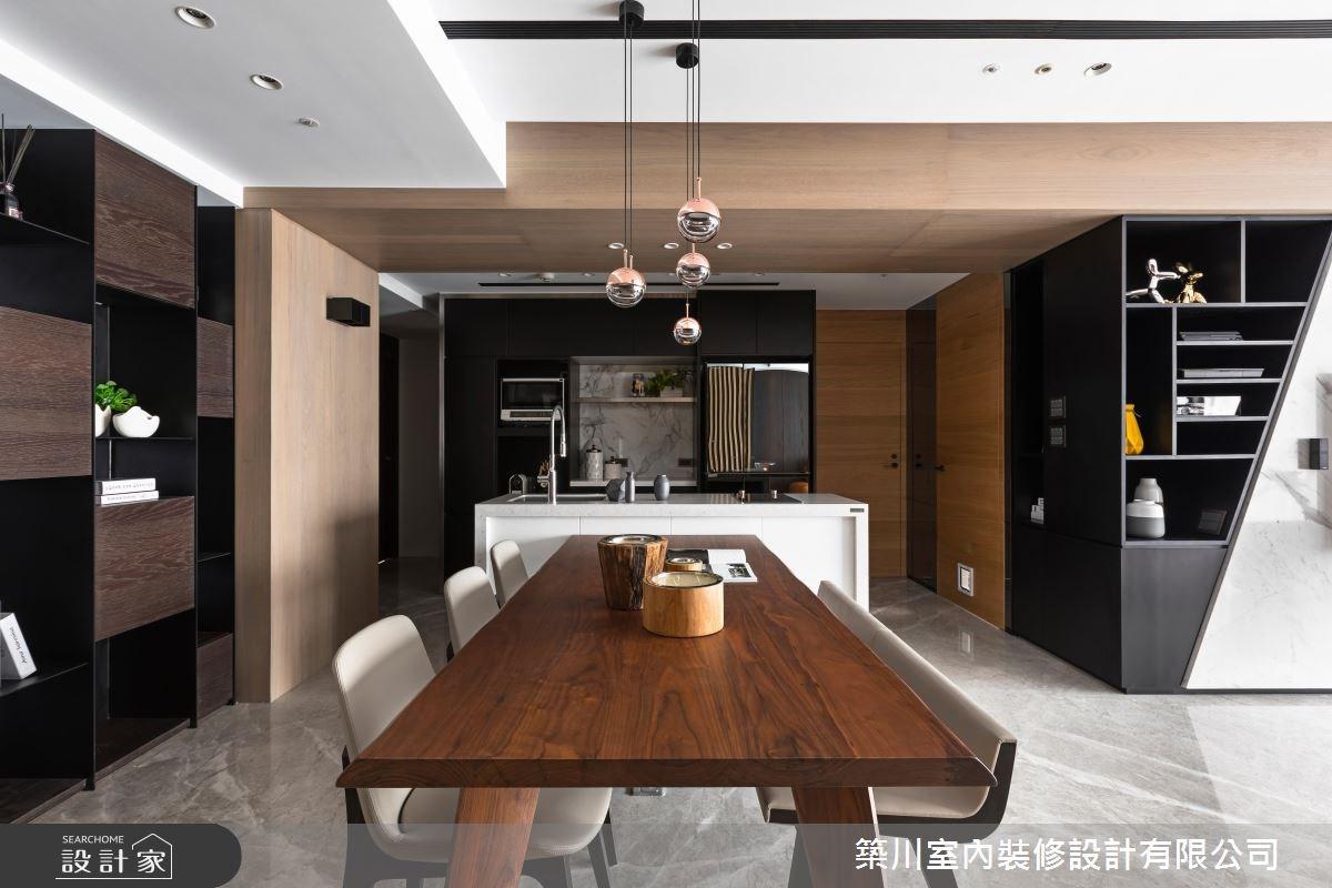 40坪新成屋(5年以下)_現代風餐廳廚房案例圖片_築川設計_築川_09之8