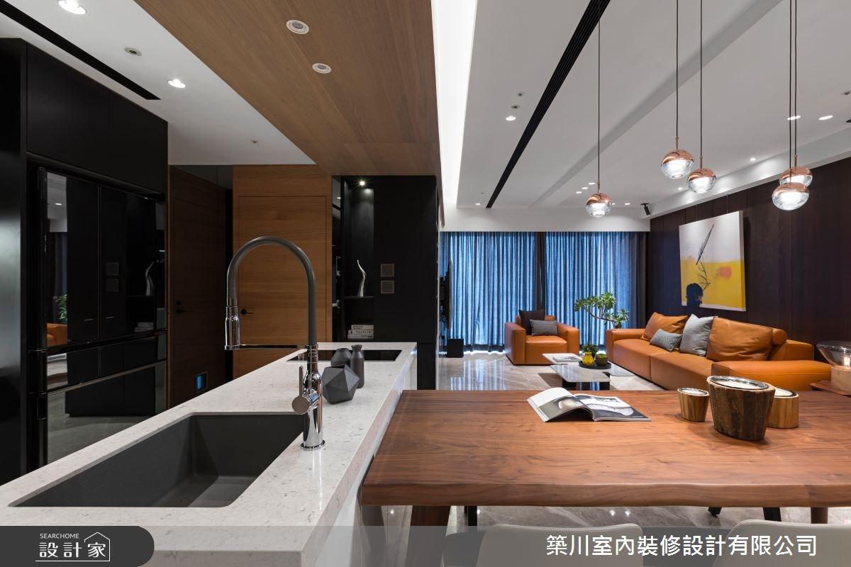 40坪新成屋(5年以下)_現代風客廳餐廳廚房案例圖片_築川設計_築川_09之9