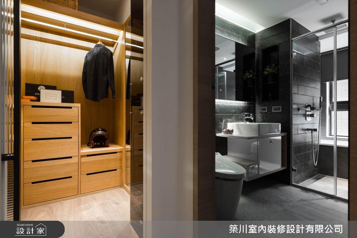 40坪新成屋(5年以下)_現代風更衣間浴室案例圖片_築川設計_築川_09之12