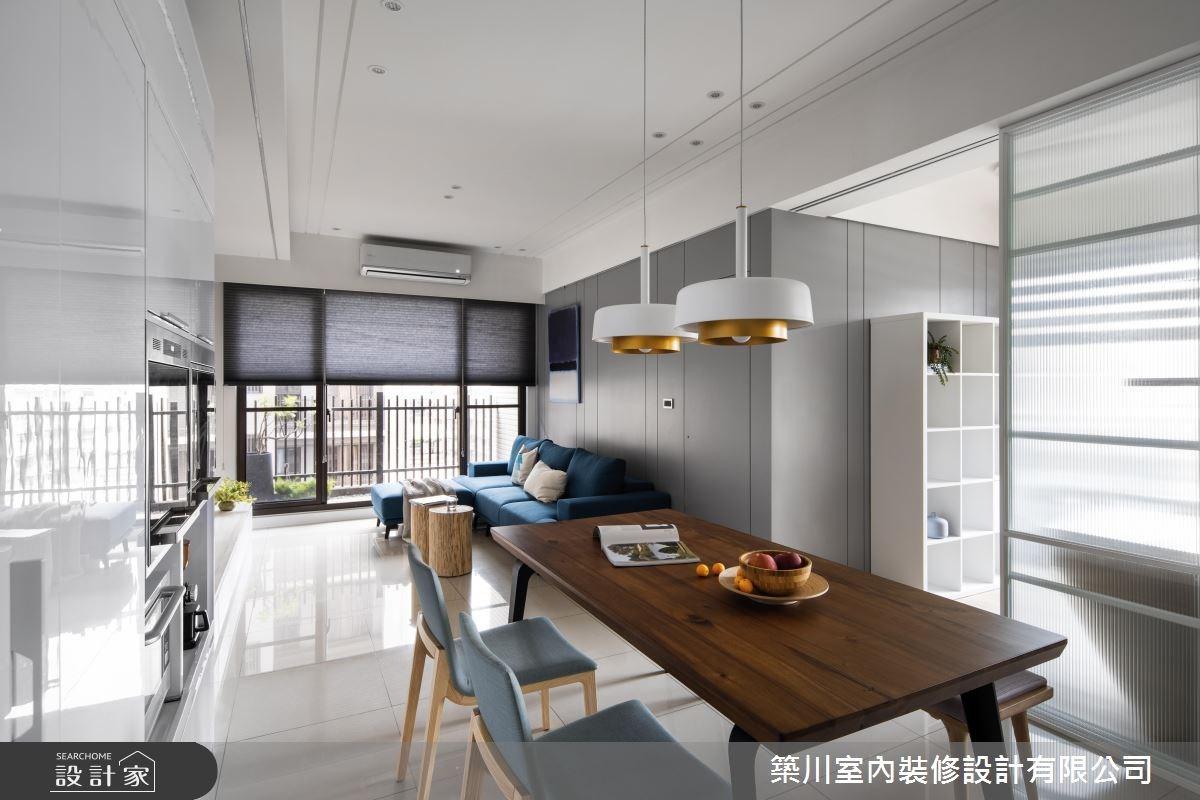 24坪新成屋(5年以下)_北歐風客廳餐廳案例圖片_築川設計_築川_07之4
