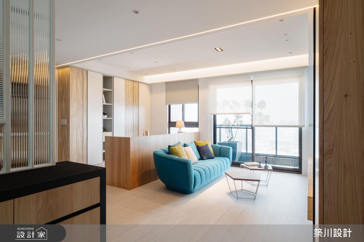 20坪新成屋(5年以下)_北歐風客廳案例圖片_築川設計_築川_11之2