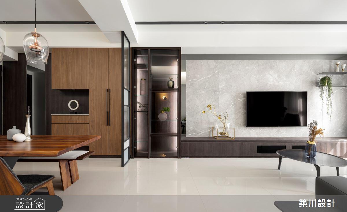 32坪新成屋(5年以下)_現代風客廳餐廳案例圖片_築川設計_築川_15之1