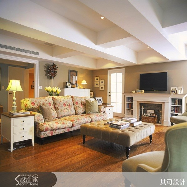 45坪新成屋(5年以下)_鄉村風案例圖片_其可設計_其可_09之1