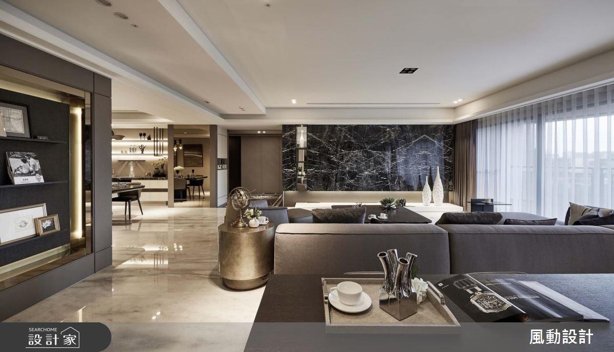 114坪新成屋(5年以下)_奢華風客廳餐廳案例圖片_風動設計有限公司_風動_01之4