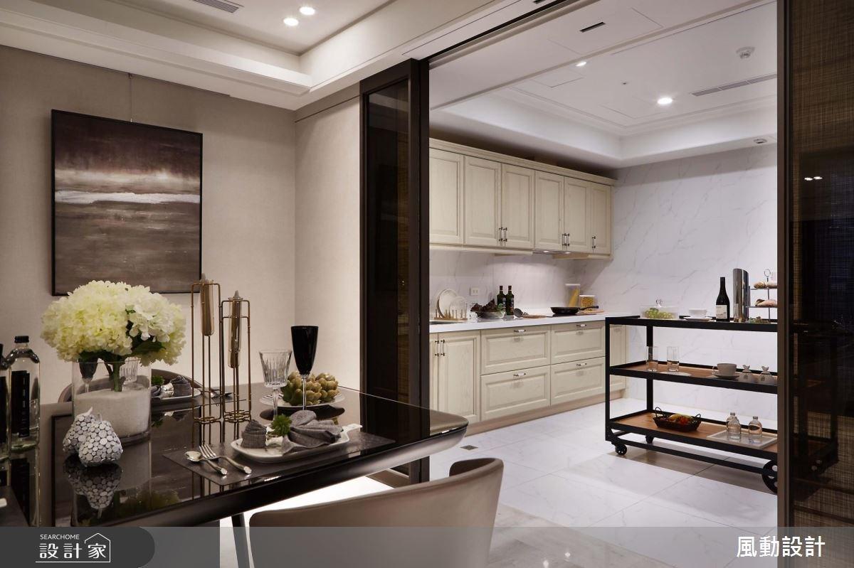 114坪新成屋(5年以下)_奢華風餐廳廚房案例圖片_風動設計有限公司_風動_01之8