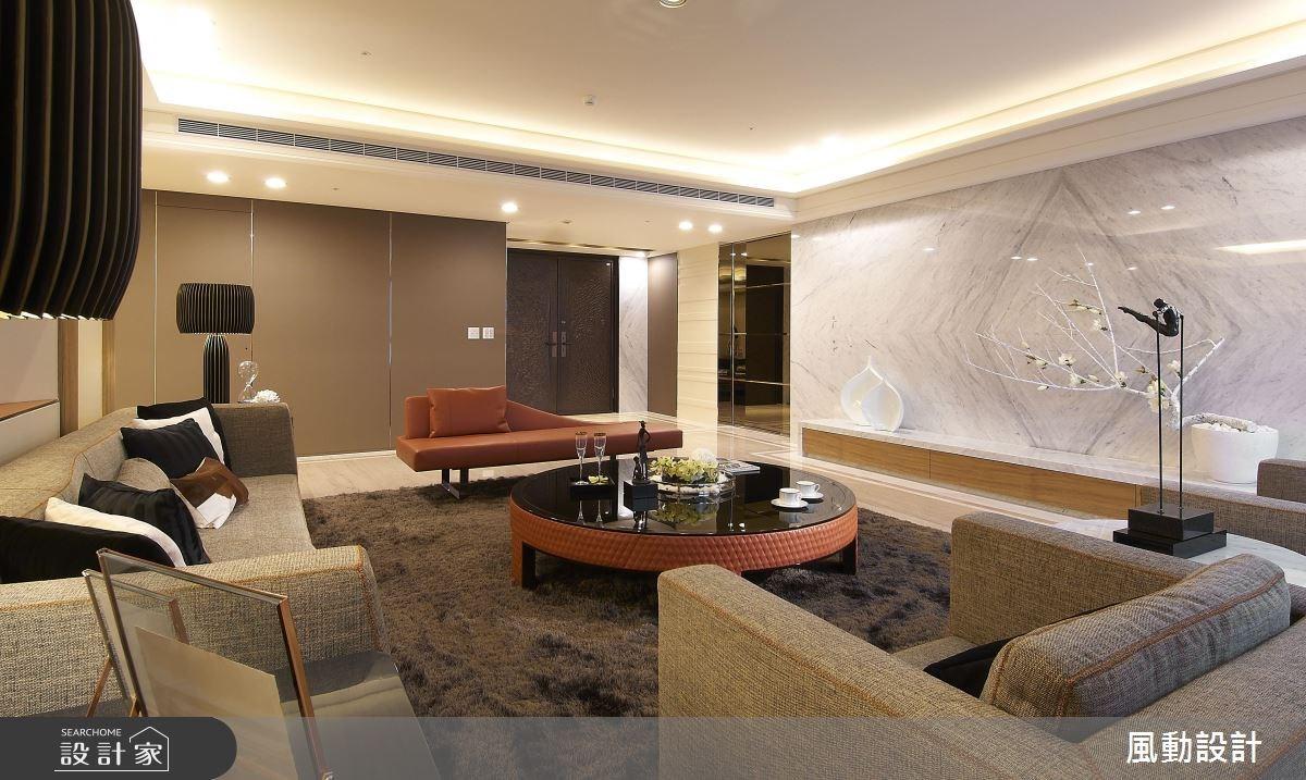 180坪新成屋(5年以下)_奢華風玄關客廳案例圖片_風動設計有限公司_風動_05之2