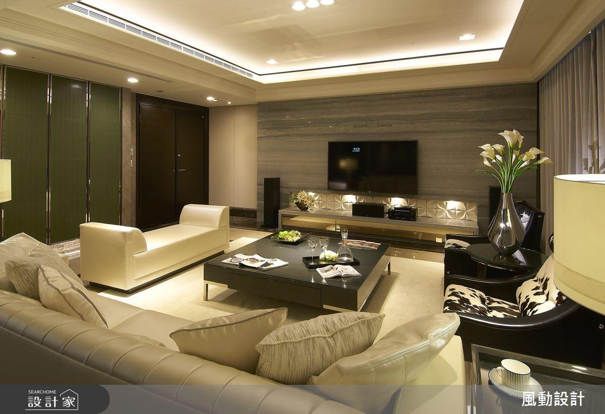 136坪新成屋(5年以下)_現代風玄關客廳案例圖片_風動設計有限公司_風動_06之2
