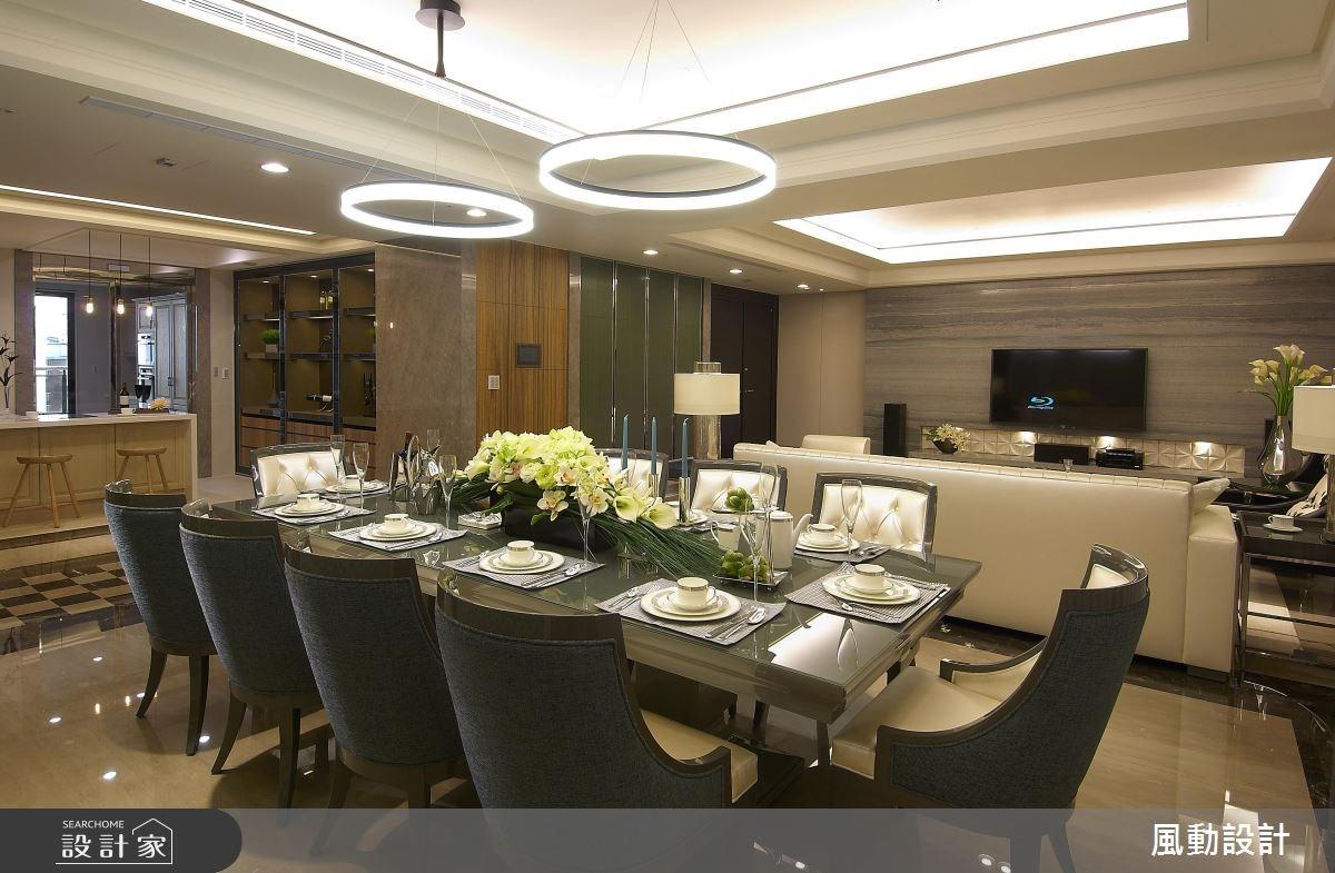 136坪新成屋(5年以下)_現代風玄關客廳餐廳案例圖片_風動設計有限公司_風動_06之3