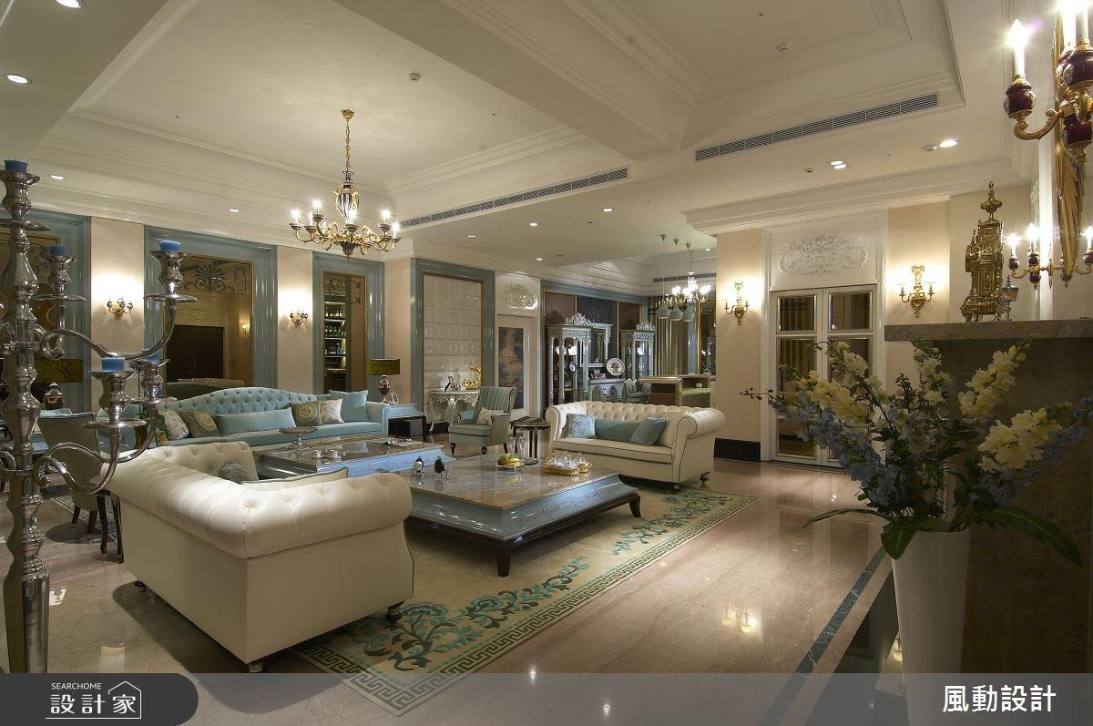 160坪新成屋(5年以下)_新古典客廳案例圖片_風動設計有限公司_風動_07之3