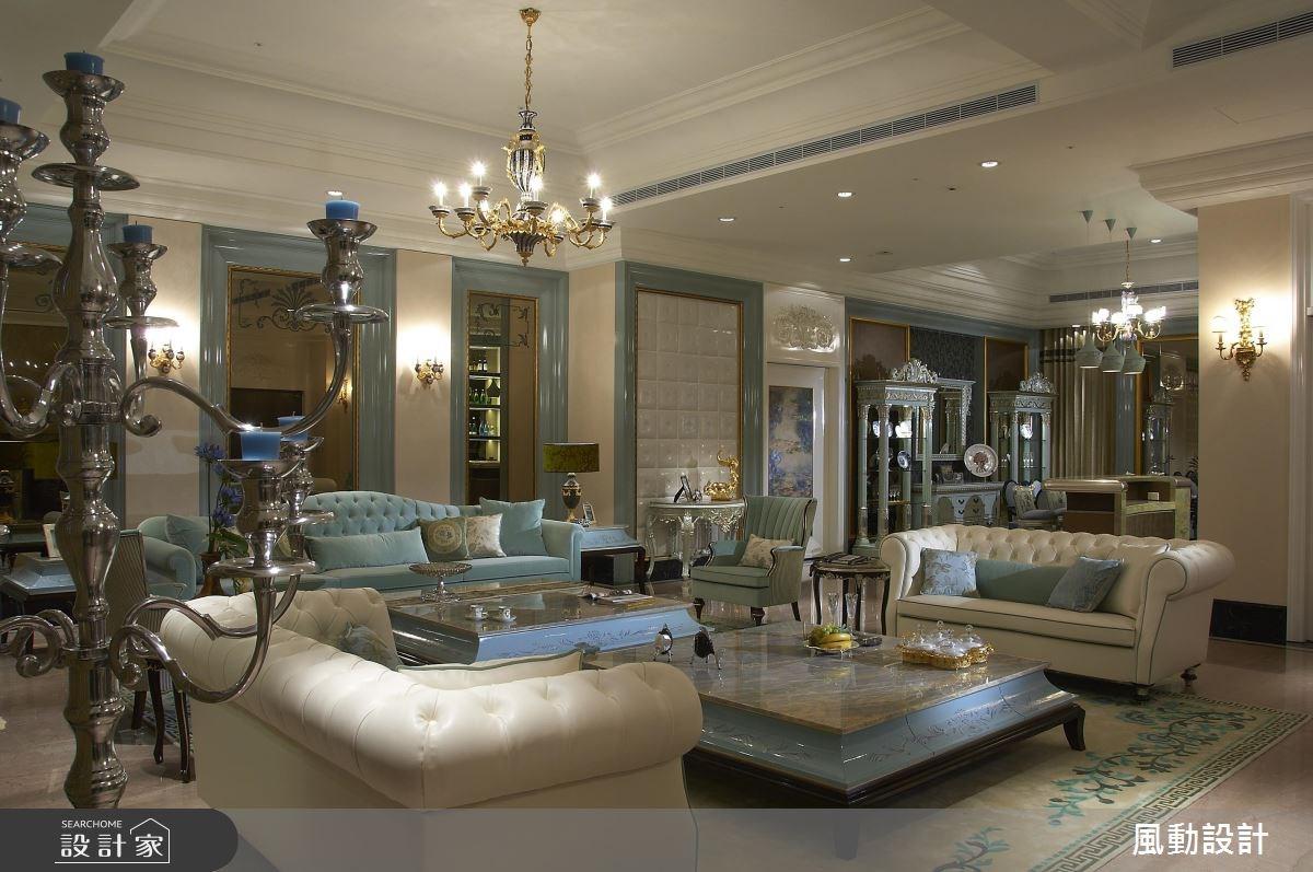 160坪新成屋(5年以下)_新古典客廳案例圖片_風動設計有限公司_風動_07之4