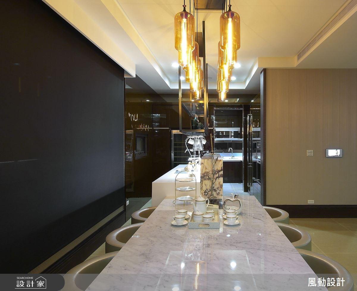 120坪新成屋(5年以下)_奢華風餐廳廚房案例圖片_風動設計有限公司_風動_08之6