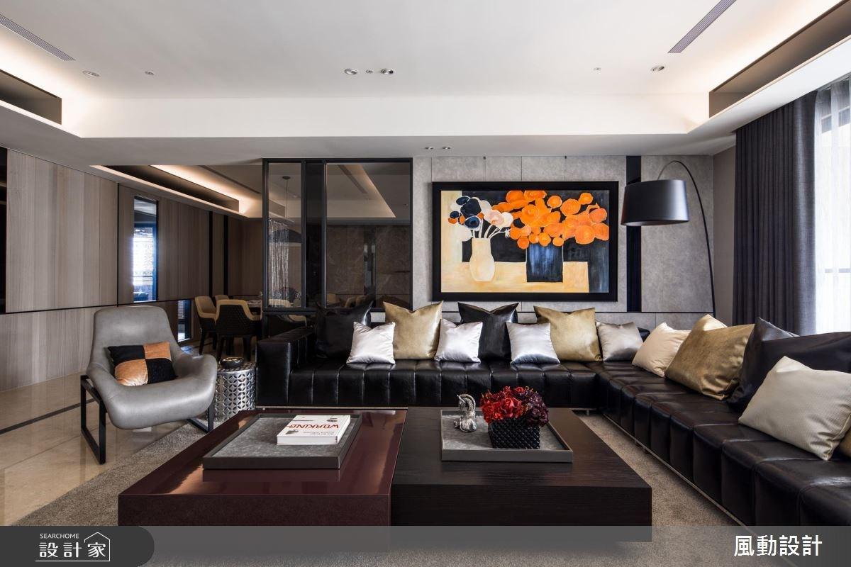 110坪新成屋(5年以下)_現代風客廳餐廳案例圖片_風動設計有限公司_風動_09之3