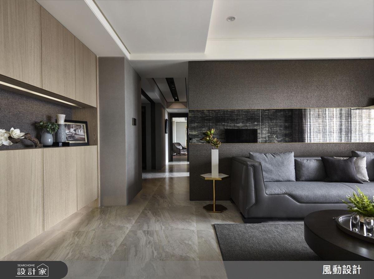 90坪新成屋(5年以下)_現代風客廳案例圖片_風動設計有限公司_風動_10之1