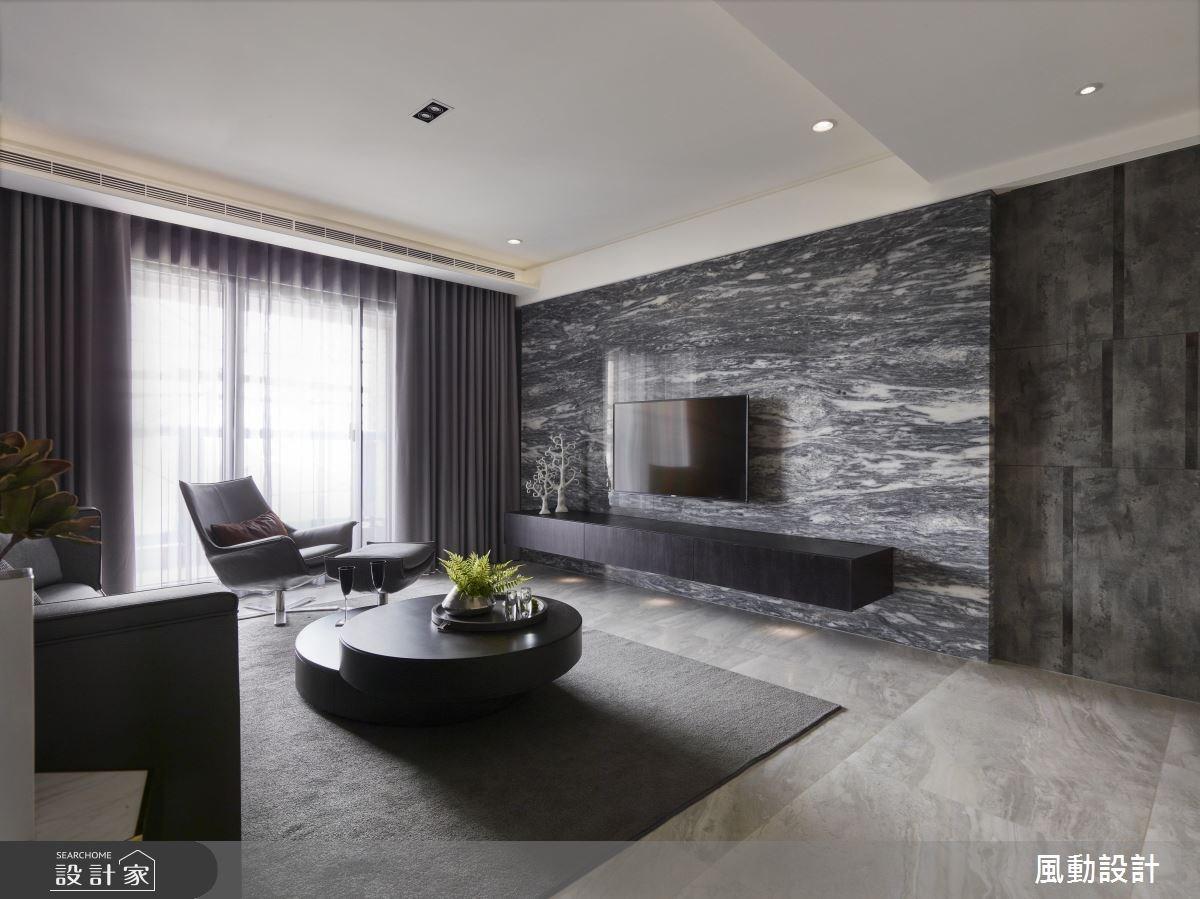 90坪新成屋(5年以下)_現代風客廳案例圖片_風動設計有限公司_風動_10之3