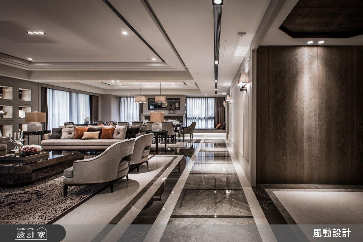 180坪新成屋(5年以下)_新古典客廳餐廳案例圖片_風動設計有限公司_風動_15之2