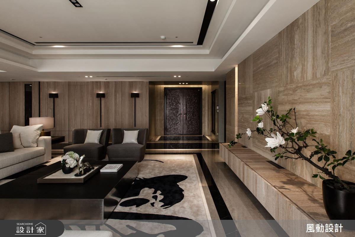 180坪新成屋(5年以下)_新中式風玄關客廳案例圖片_風動設計有限公司_風動_16之2
