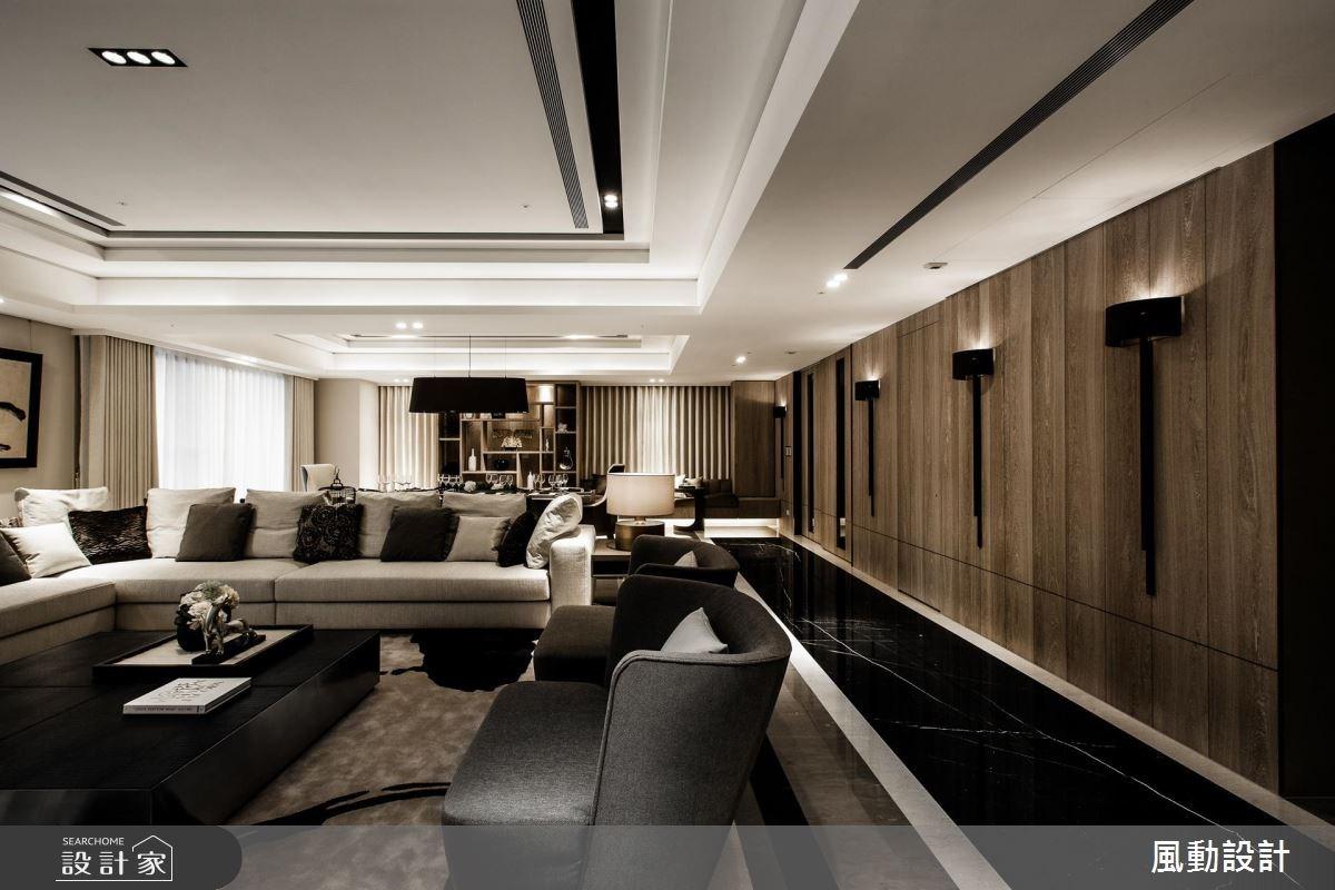 180坪新成屋(5年以下)_新中式風客廳餐廳案例圖片_風動設計有限公司_風動_16之3