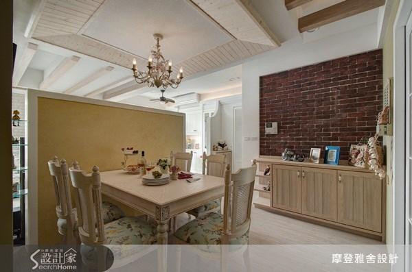 30坪新成屋(5年以下)_鄉村風餐廳案例圖片_摩登雅舍室內設計_摩登雅舍_19之3