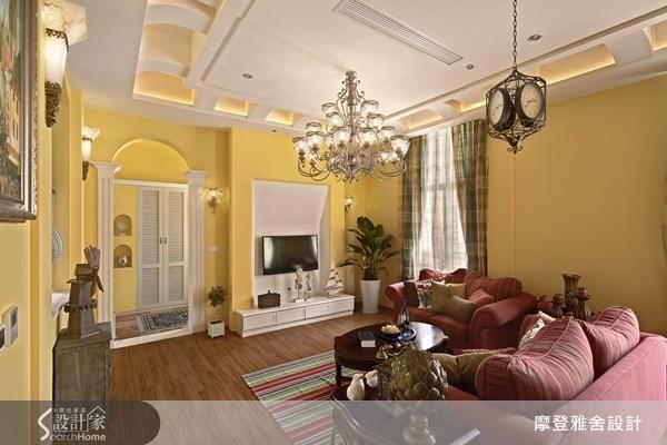 120坪新成屋(5年以下)_鄉村風客廳案例圖片_摩登雅舍室內設計_摩登雅舍_21之3