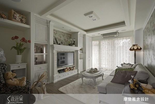 18坪老屋(16~30年)_鄉村風客廳案例圖片_摩登雅舍室內設計_摩登雅舍_22之3