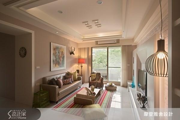 30坪新成屋(5年以下)_簡約風客廳案例圖片_摩登雅舍室內設計_摩登雅舍_25之4