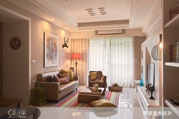 30坪新成屋(5年以下)_簡約風客廳案例圖片_摩登雅舍室內設計_摩登雅舍_25之3
