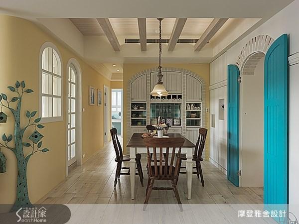 50坪新成屋(5年以下)_鄉村風餐廳案例圖片_摩登雅舍室內設計_摩登雅舍_30之10