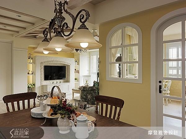 50坪新成屋(5年以下)_鄉村風餐廳案例圖片_摩登雅舍室內設計_摩登雅舍_30之15