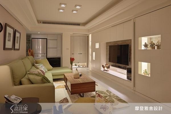 35坪老屋(16~30年)_現代風客廳案例圖片_摩登雅舍室內設計_摩登雅舍_32之3