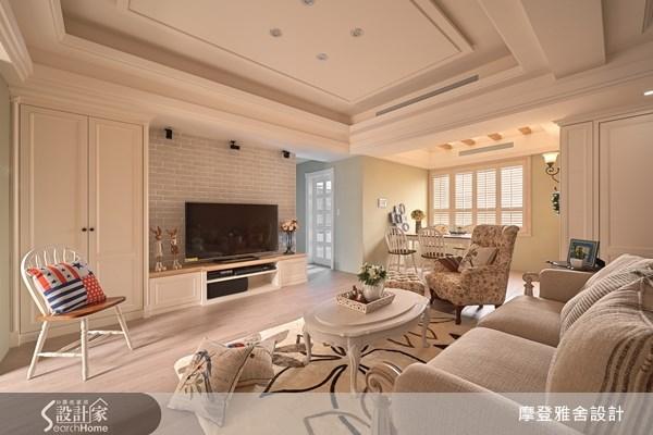 30坪新成屋(5年以下)_鄉村風客廳案例圖片_摩登雅舍室內設計_摩登雅舍_34之2