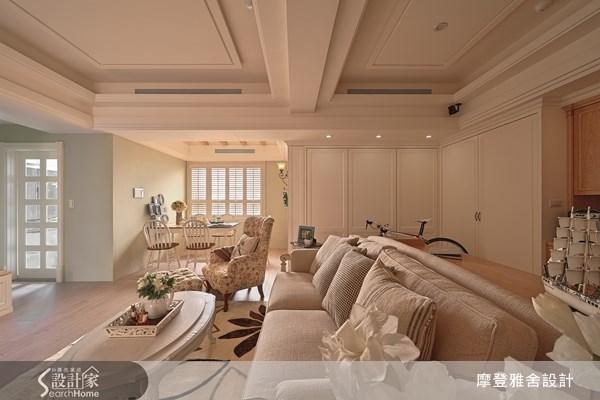30坪新成屋(5年以下)_鄉村風客廳案例圖片_摩登雅舍室內設計_摩登雅舍_34之3
